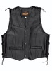 Held Patch l�dervest med knapper, 4XL-8XL