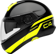 Schuberth C4 flip-up hjelm i Pulse black