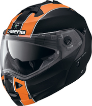 Caberg Duke flip-up hjelm i matsort og orange