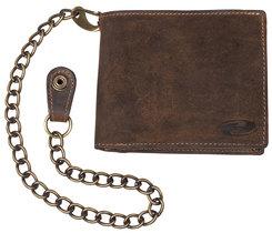 Held læderpung i brun med kæde