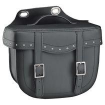 Held Cruiser Bulb Bag sidetasker i læder med nitter