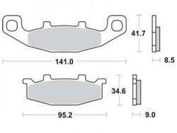 Bremseklodser foran, Kawasaki ER-5, 97-00