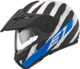 Schuberth E1 Enduro flip-up styrthjelm i hunter blå